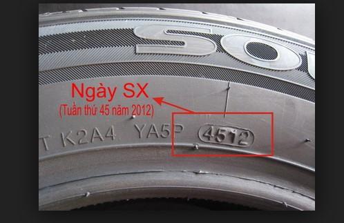 năm sản xuất lốp